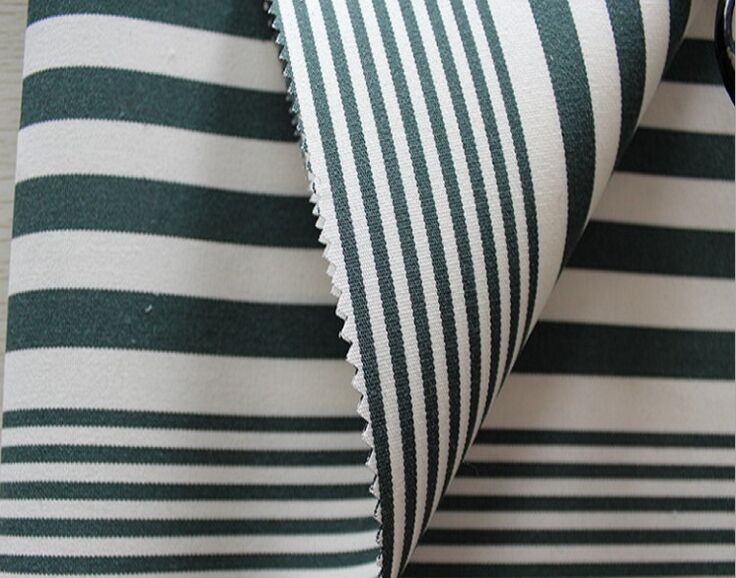 Striped awning fabric