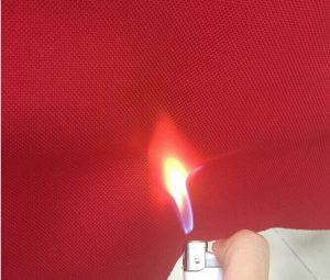Polyester 210D Oxford fabric pu coating flame retardant